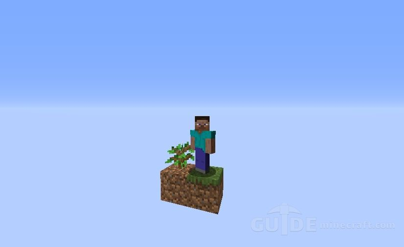 Download OneBlock map with all crafts for Minecraft 1 16 1/1 15 2