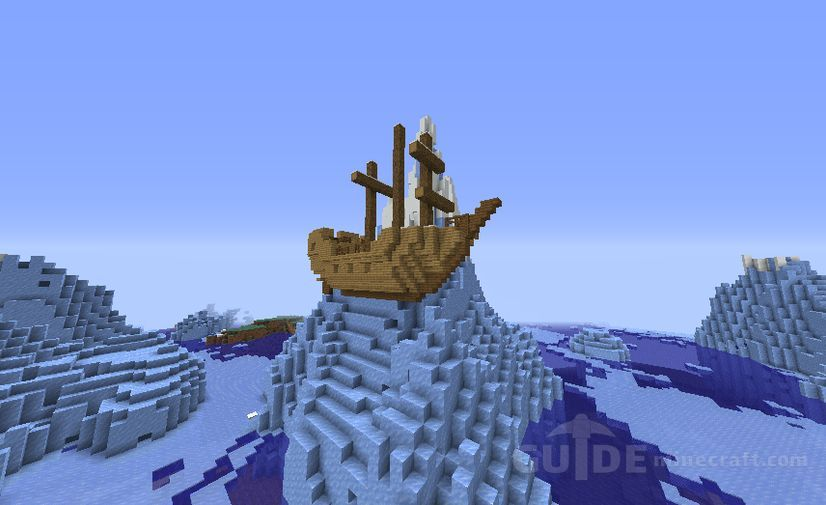 Ship On Ice Cliff Seed For Minecraft 1 16 1 15 2 1 15 1 14 4 1 14